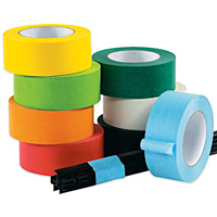 Colored Crepe Paper Tape - Not Printable (Intertape PF3)